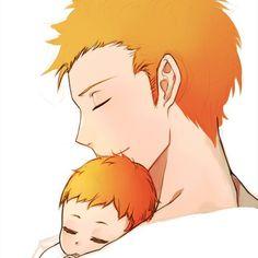 Father and son Bleach Ichigo Kurosaki & Kazui Kurosaki
