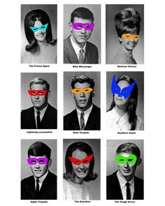 This would be a fun sidebar feature on the staff page. Their high school pic with masks on - LOVE!
