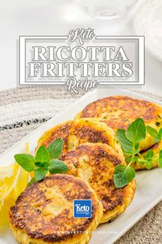 This delicious Keto Ricotta Cheese Fritters recipe is perfect for breakfast or brunch. Not only low in carbohydrates, but also gluten-free and also suitable for paleodiets. About My Keto Kitchen – ketogenic, low carbohydrate and gluten free recipes Cheese Fritters Recipe, Ricotta Fritters, Ricotta Cheese Recipes, Keto Cheese, Low Carb Keto, Low Carb Recipes, Diet Recipes, Healthy Recipes, Diet Meals