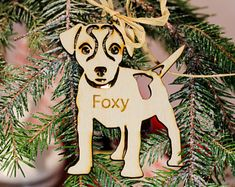 Dog Wooden Ornament,Wood-cut Dog,Christmas Tree Ornament,Personalized Dog,Woodcut Jack Russell,Jack Russell Decoration, Gift For Dog Lovers