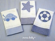 Paños de bebé - Imagui Baby Applique, Applique Pillows, Baby Embroidery, Baby Layette, Baby Bibs, Baby Duvet, Baby Sheets, Cross Stitch Baby, Patch Quilt
