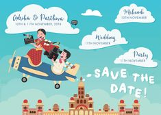 Custom illustrated wedding invitations, unique to each couple, designed by Mithila Ananth Illustrated Wedding Invitations, Indian Wedding Invitation Cards, Wedding Invitation Video, Acrylic Wedding Invitations, Funny Wedding Invitations, Engagement Invitations, Wedding Stationery, Birthday Invitations, Wedding Card Design Indian