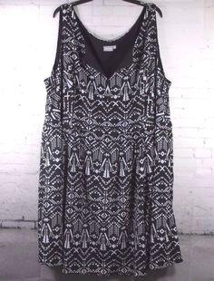 EShakti Women's Sleeveless Dress  Plus 5X 32W Side Zipper Poly Lined  W/Pockets  #EShakti
