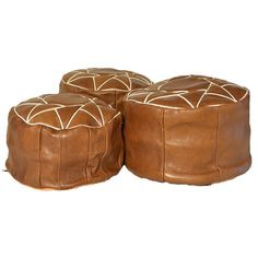 Hey, I found this really awesome Etsy listing at https://www.etsy.com/listing/268332763/set-of-ottoman-pouf-three-leather