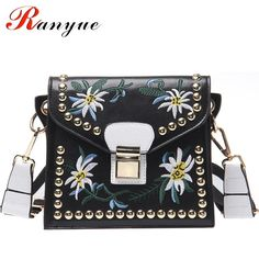 737a8e68cfb2 Fashion Women Leather Messenger Bag Flower Designer Shoulder Bags