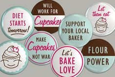 Cupcakes by Jess 1st Birthday Badges