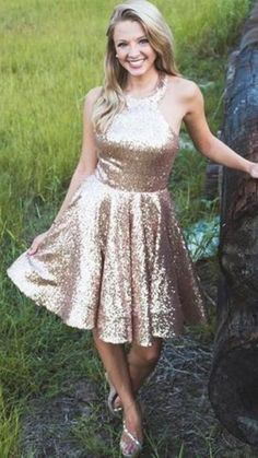 Backless Homecoming Dresses, Simple Homecoming Dresses, Two Piece Homecoming Dress, Sequin Bridesmaid Dresses, Bridesmaid Dresses Online, Lace Homecoming Dresses, Formal Dresses, Hoco Dresses, Dance Dresses