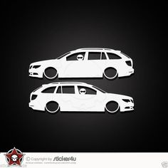(674) 2x Low and Slow Skoda Superb 3T Sticker Aufkleber Stickerbomb Combi Kombi