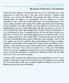 Guidelines for Writing a Personal Statement   Pre Health