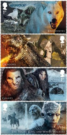 """They're Making """"Game Of Thrones"""" Stamps And They're Gorgeous"""