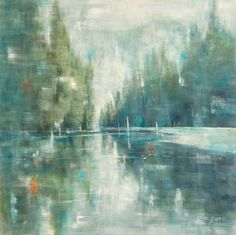"""""""West Coast Gina Sarro Original acrylic on wood panel 48 x Abstract Landscape, Landscape Paintings, Landscapes, Vertical Horizon, Contemporary Paintings, Wood Paneling, West Coast, Mists, Beautiful Pictures"""