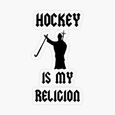 'Hockey Is My Religion!' Transparent Sticker by Field Hockey Quotes, Basketball Quotes, Basketball Drills, Fixed Bike, Fixed Gear, Cycling Tips, Road Cycling, Hockey Hoodie, Hockey Gifts