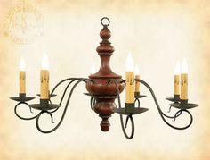 primitive lighting ideas. 8-arm Newton Wooden Primitive Chandelier Light | Country Colonial Wood Lighting Ideas P