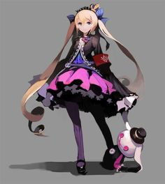 And i think i fell in love with this character design Game Character Design, Character Design References, Character Design Inspiration, Character Concept, Character Art, Concept Art, Chica Anime Manga, Manga Girl, Anime Art