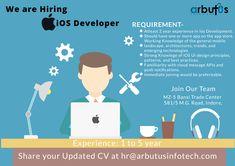 IOS Developer Ui Design Principles, Hiring Poster, Ios Developer, Ios Ui, We Are Hiring, Knowledge, Technology, App, Tecnologia