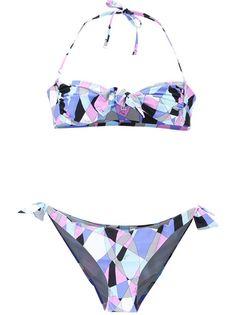 EMILIO PUCCI - printed bandeau swimsuit $346.76