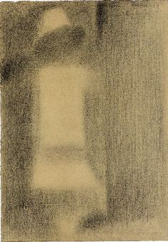 artemisdreaming: Georges Seurat (1859-1891) (tail) Study for A Sunday on La Grande Jatte (Known As The White Child), 1884 Conté pencil - 30 ....