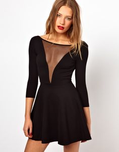 American Apparel Gloria V Skater Dress With Scoop Back // have this~~