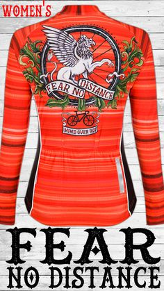 Fear No Distance Men's Long Sleeve Jersey Women's Cycling Jersey, Cycling Jerseys, Mind Over Body, Bright Colours, Color Combinations, Vintage Inspired, Leadership, Strength, Fabrics