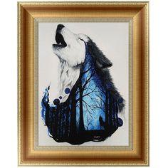 DIY 5D Diamonds Embroidery Wolf Round Diamond Painting Cross Stitch Kits Mosaic Home decor 30*40cm-W210