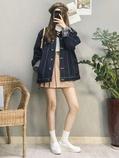 Korean Girl Fashion, Korean Fashion Trends, Ulzzang Fashion, Korean Street Fashion, Korea Fashion, Japanese Fashion, Asian Fashion, Korean Outfits, Mode Outfits