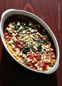 engelchens-probierstuebchen: Linsenauflauf mit Tomaten, Spinat und Feta
