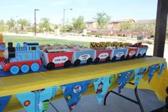 Snack train. I can use this for the condiments and toppings at the hot dog bar.