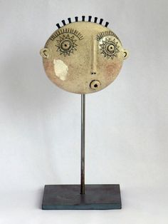 Image gallery of Nottingham based ceramicist Guy Routledge Pottery Sculpture, Sculpture Clay, Stone Crafts, Clay Crafts, Ceramic Workshop, Clay Faces, Abstract Faces, Pottery Classes, Air Dry Clay