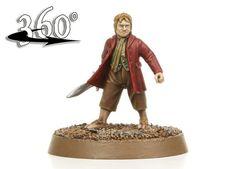 Bilbo Baggins, looking splendid in his red coat.