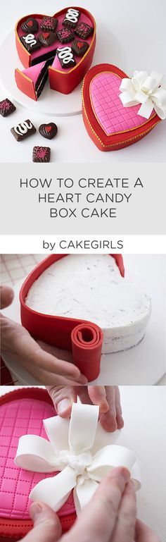 Check out our latest Step x Step Tutorial to see how to create a life like heart shaped box of chocolates!   Cakegirls Step x Step