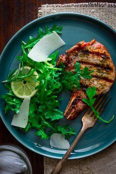 Lemon Rosemary Pork Chops with Arugula | 23 Budget-Friendly Pork Chop Recipes