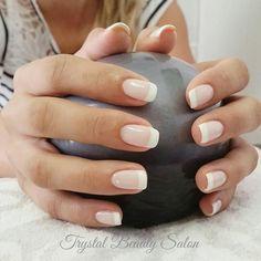 130 french nails ideas pretty nails bride nails, gel nails ș Pink Wedding Nails, Wedding Nails Design, Wedding Manicure, Nail Design, Wedding Nails For Bride Natural, Glitter Wedding, Rhinestone Wedding, Salon Design, Silver Glitter