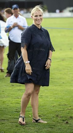 Zara Tindall, pictured yesterday at the International Day at the Royal County of Berkshire Polo Club in Winkfield, Windsor, has revealed she suffered a second miscarriage before she gave birth to her daughter Lena last month Princess Anne, Royal Princess, Royal Life, Royal House, Pregnant Princess, Mike Tindall, Zara Phillips, Royal Dresses, Polo Club