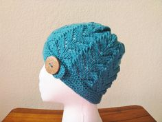 Hand Knit Women's Lace Hat by stickshooksandyarn on Etsy, $23.00