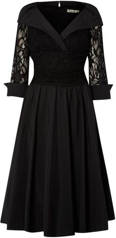 Eliza J Lace detail 3/4 sleeve ruched waist dress on shopstyle.co.uk