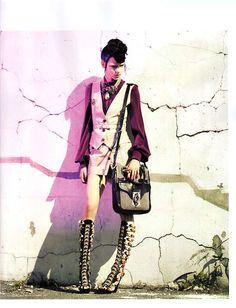 kinga rajzak Vogue France December 2007 / January 2008 Craig McDean