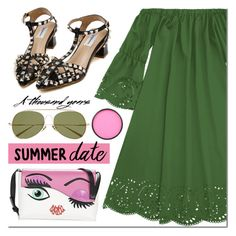 """Summer Date"" by mada-malureanu ❤ liked on Polyvore featuring Braccialini, Acne Studios and Mehron"