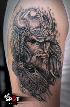 nordic viking portrait tattoos - Google Search