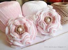 Flores a crochet con patrones