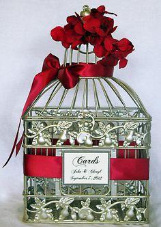 Red+wedding+ideas+2013 | Poppy red ribbon birdcage wedding decor Party Simplicity 2013 Wedding ...