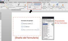 Diseño de un formulario en Word 2013