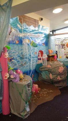 Under the sea themed school display.