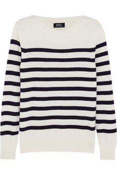 A.P.C. ATELIER DE PRODUCTION ET DE CRÉATION Étretat french striped wool and cashmere-blend sweater