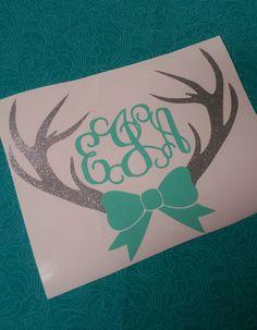 Deer Antler Bow Monogram  Deer monogram