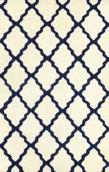 Nuloom Hand Hooked Marrakech Trellis Blue Area Rug