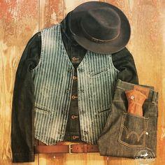 Workwear AMEKAJI Chapeau à Large Bord Vintage INS Summer Casual Denim Hommes Chapeau