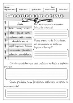 Trabalhando bilhete e lista EM PDF | Atividades Pedagogica Suzano Dinosaur Songs For Kids, Kids Songs, Reading Interest Survey, Board Game Template, Thanksgiving Writing, Force And Motion, Emotional Regulation, A30, Student Teaching