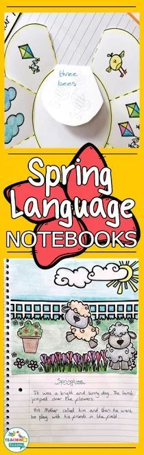 Spring language notebooks provide an easy solution for busy school based SLPs working with mixed language groups in early elementary. Articulation Activities, Speech Therapy Activities, Language Activities, Writing Activities, Easter Activities, Teaching Vocabulary, Teaching Grammar, Speech Language Pathology, Speech And Language