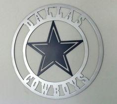 Dallas Cowboys Metal Wall Art by IBdesignz on Etsy Metal Artwork, Metal Wall Art, Plasma Cutter Art, Dallas Cowboys Logo, Metal Stars, Thinking Outside The Box, Pebble Art, Unique Home Decor, Tiffany Blue