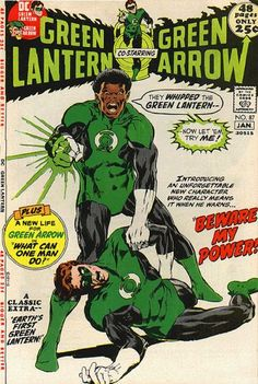 Green Lantern John Stewart, originally introduced as a backup Green Lantern.